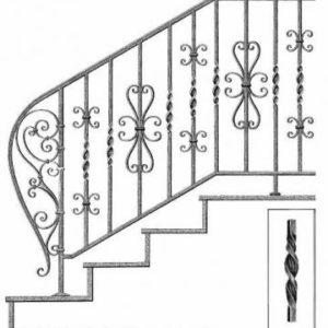 Elemente fier forjat pentru balustrade